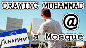 Drawing Muhammad in Front of a Mosque